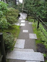 path (lauraknosp) Tags: stone oregon garden portland landscape concrete japanese path granite pdx portlandjapanesegarden pavers landscapearchitecture