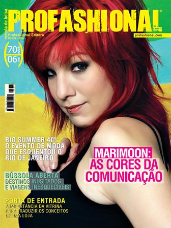 pink red fashion magazine revista capa cover 2008 marimoon profashional
