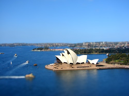 Sydney Opera House Tilt Shift