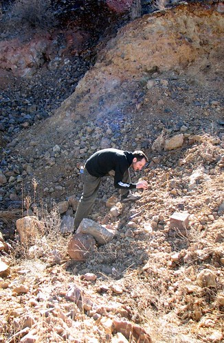 Mark looking for fire agate at Deer Creek
