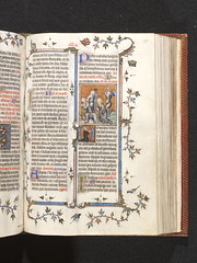 Page from a missal from the abbey of Saint-Denis, 1350. Museum no. MSL/1891/1346.