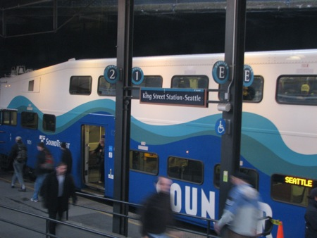 Sounder at King Street Station, Seattle