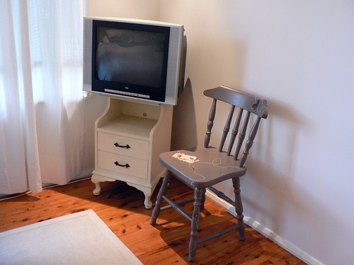 TV & Refinished Chair