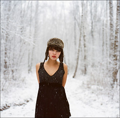 #446 (anton.komlev) Tags: winter snow cold film nature girl beauty rollei rolleiflex women russia medium format snowing russian yana      6008    forast      updatecollection