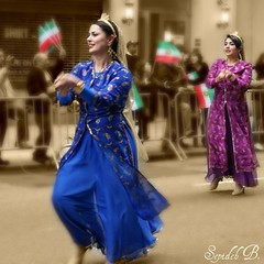 Persian Parade (Sepideh!) Tags: nyc newyorkcity newyork motion beautiful smile festival proud liberty happy march persian moving dance costume spring women colorful peace dancing iran unitedstatesofamerica culture happiness persia skirt harmony iranian tradition folkdance 2009 persians norooz nowruz nowrouz  500x500 persianparade sepideh celeberation iranianwomen