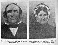 Alexander McLennan and Mary McLennan nee Matheson