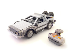 RC Delorean time machine (Legohaulic) Tags: car lego delorean backtothefuture timemachine 121gigawatts