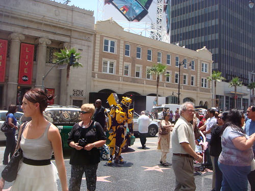 Transformer attacking Hollywood blvd