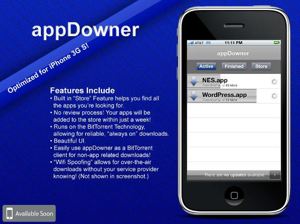 appDowner: A BitTorrent-Powered App Store Alternative For iPhone