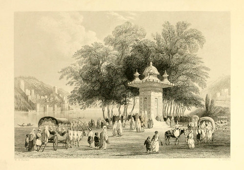 006- Fuente cerca del Valle de Asia en el Bosforo-Las bellezas del Bosforo 1838-W.H. Bartlett