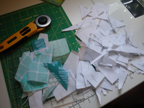 Paper piecing is messy!