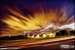 Honey And The Moon (Mathieu EZAN) Tags: city france colors car night clouds landscape lights nikon bretagne wideangle nuages paysage nuit morbihan ville auray grandangle 1424 d700 mathieuezan