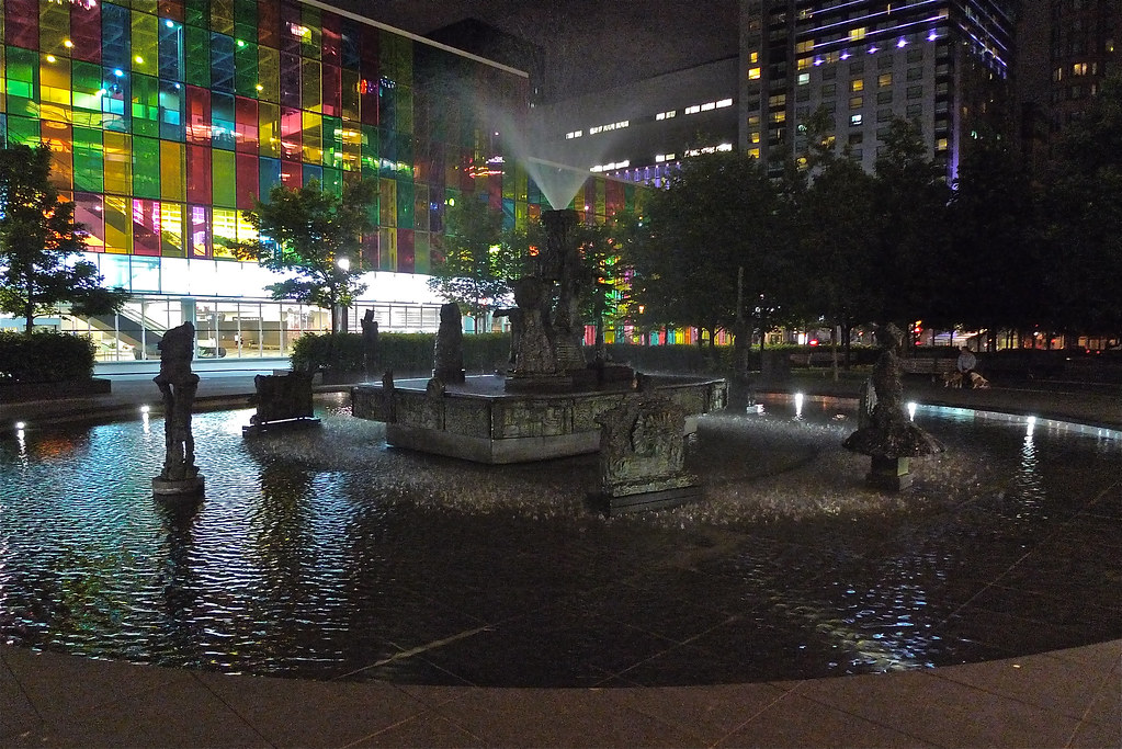 Copyright Photo: Place Jean-Paul-Riopelle: Montreal Fountain La Joute Stage 1 by Montreal Photo Daily, on Flickr