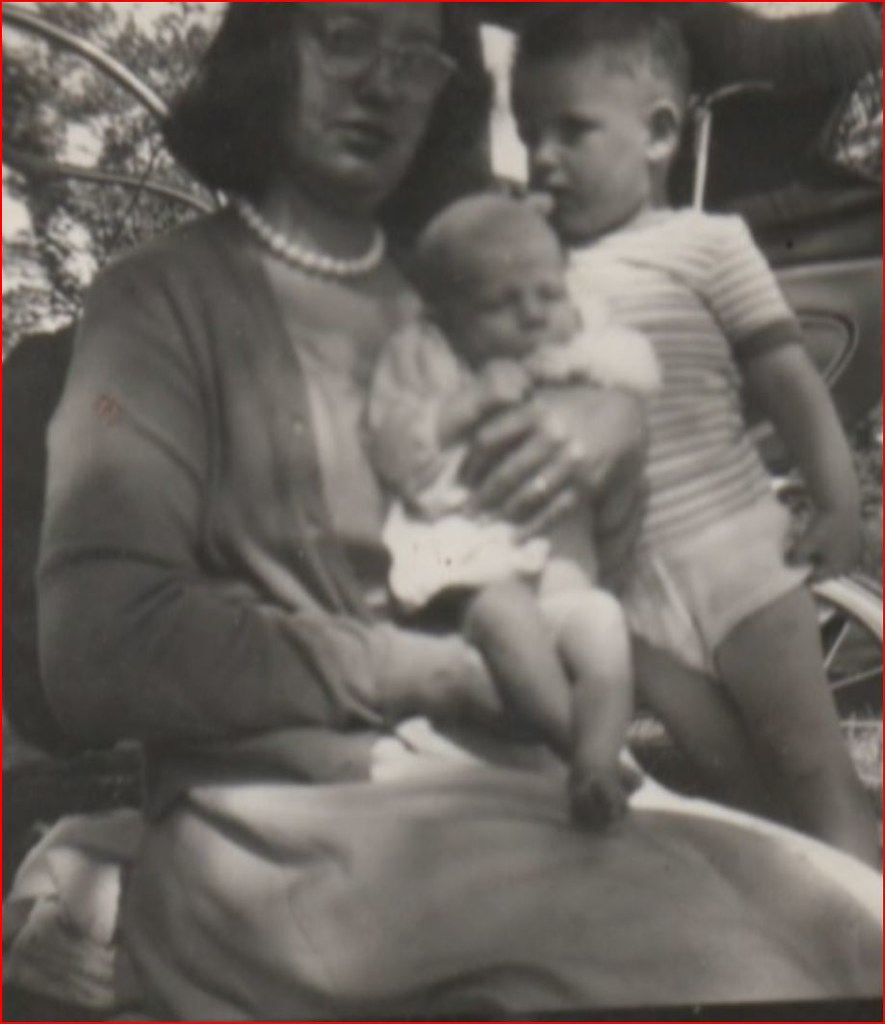 Mary Reynolds with her two Sons 1967