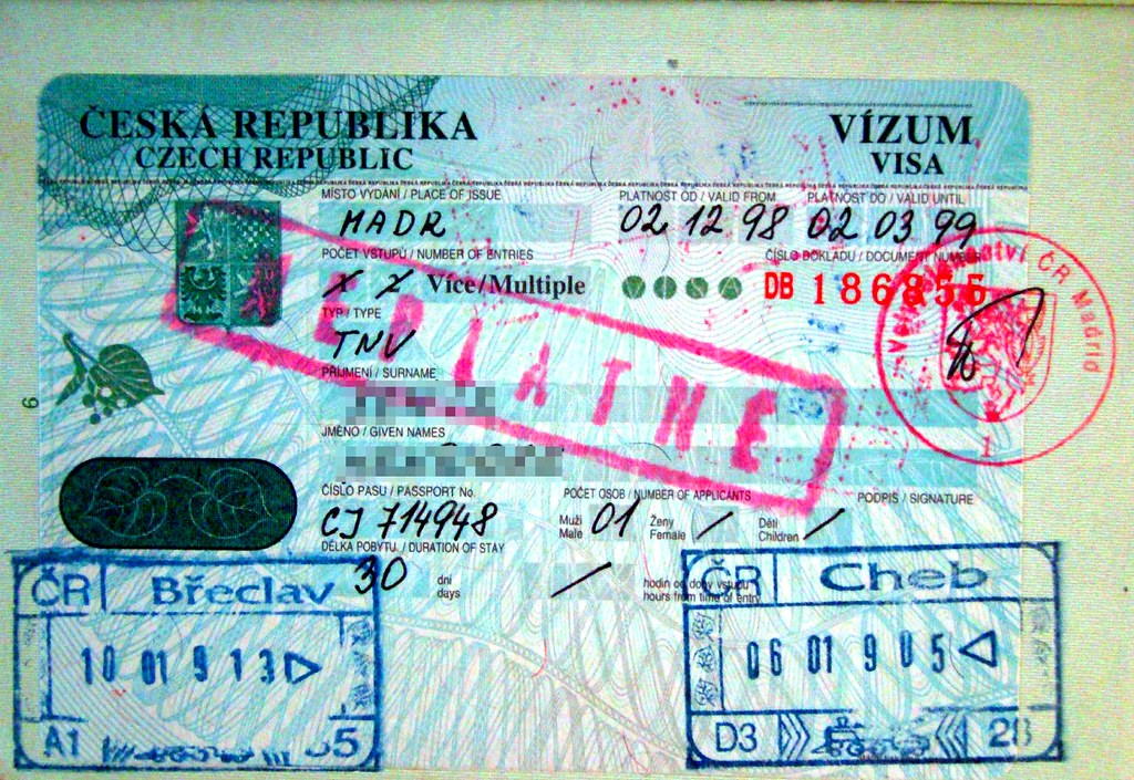 Czech Republic: visa and stamps