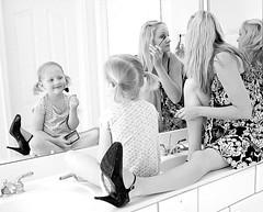 Girly bw (GodsEmerald) Tags: bw sara girly memories daughter mother makeup dressup together qualitytime gtwl