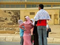 Local girl. Giza, Egypt (Daniel Kliza) Tags: world travel pink woman sphinx scarf women veil candid muslim egypt hijab cairo observe pyramids 100 giza