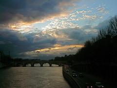 Blue Winter Sunset, Paris, France (balavenise) Tags: bridge blue winter sunset sun paris france sol seine puente soleil eiffeltower eiffel pont passage