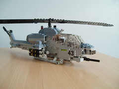 AH-1W SuperCobra (6) (Mad physicist) Tags: usmc model lego helicopter marines ah1 ah1w supercobra