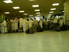 in jeddah { international } airport (Abdulaziz Abdullah ) Tags: airport waiting crowd international jeddah reservation crowded jedda