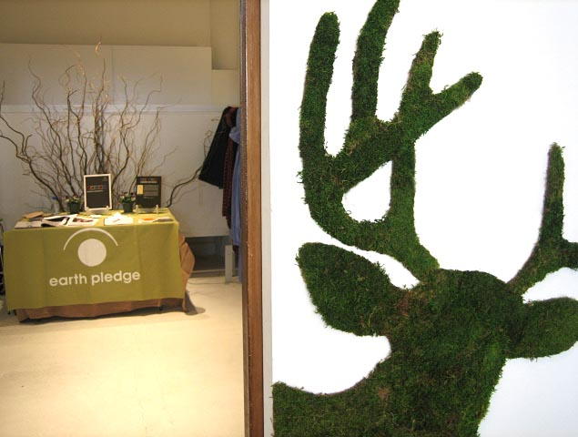 Edina's moss antlered deer overlooks the Earthpledge exhibit