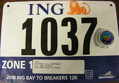 Bay To Breakers runner's number