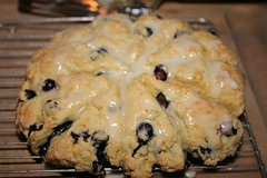 Baked Blueberry Breakfast Scones