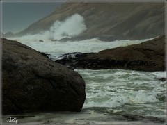 Waves crashing on the rocks... (sallysue007) Tags: sea nature southafrica rocks blueribbon takeabow naturesfinest supershot noordhoekbeach golddragon mywinners abigfave amazingshots superbmasterpiece shinningstar theperfectphotographer mywinerstrophy dragongold natureselegantshots multimegashot