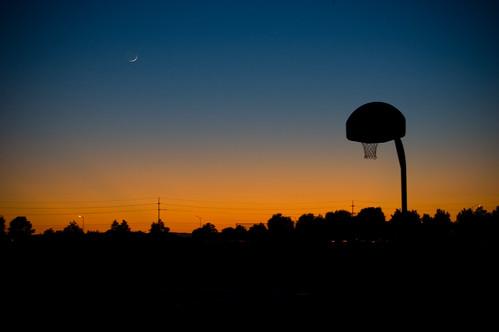 Evening Basketball by SlinkyDragon.