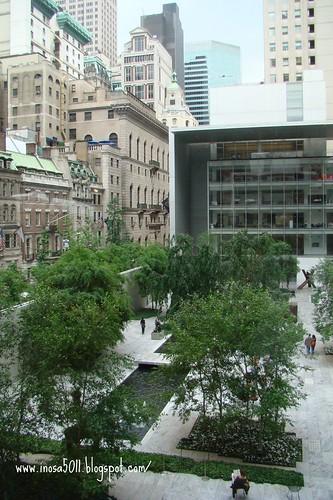 MOMA-從2樓大窗戶看出去的風景