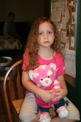 Tessa's hair: Before