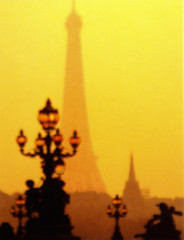 Paris - Eiffel Tower at sunset (timinbrisneyland) Tags: sunset paris france french streetlamp postcard eiffeltower
