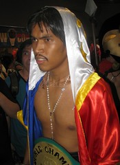 Manny Pacman Pacquiao at the 7th Philippine Toys, Hobbies, and Collectibles Convention 2008