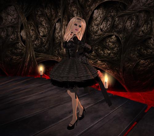 Crimson Shadow - Lucky Chair Dress