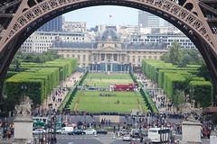Happy People Under Tour Eiffel