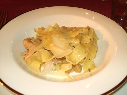 Tagliatelle with rabbit, chickpeas, & lemon
