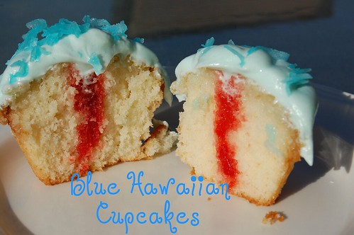 Blue Hawaiian Cupcake