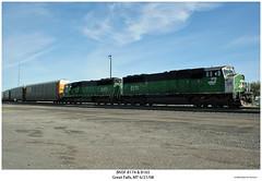 BNSF 8174 & 8165 (Robert W. Thomson) Tags: railroad train montana diesel greatfalls railway trains bn locomotive trainengine bnsf burlingtonnorthern emd sd60m burlingtonnorthernsantafe sd60 sixaxle