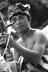 rebab (Farl) Tags: travel portrait bw bali musician music man male indonesia culture string fiddle tradition hindu gamelan denpasar baliartsfestival 100mmf28macro rebab meped baliartsfestival2008