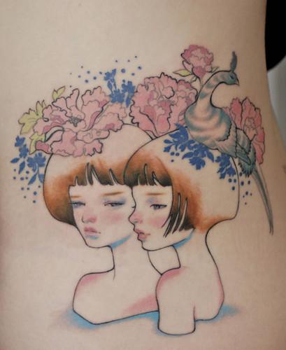 Audrey Kawasaki tattoo 2
