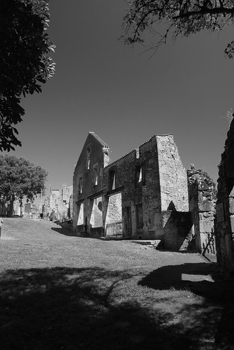 Remains of a barn at Oradour sur Glane, Limousin, France