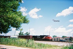 Train and Plane photographic meet. Schiller Park Illinois. July 2008.