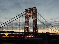 sunset on the bridge (carterhp) Tags: nyc bridges georgewashingtonbridge uppermanhattan