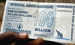 Zimbabwe 100 Billion Dollar Note