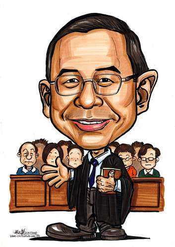 Caricature of a Lawyer