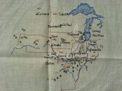 Cross-Stitched USA