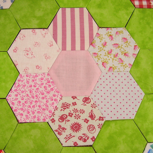 hexagons - hellrosa - lightpink