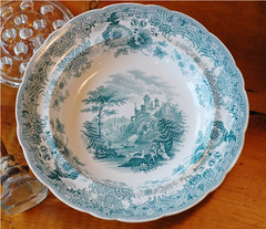 William Ridgely Teal transferware bowl c.1880 (freshvintagestyle) Tags: transferware freshvintage