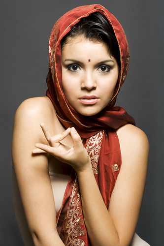 girl dressed like Indian