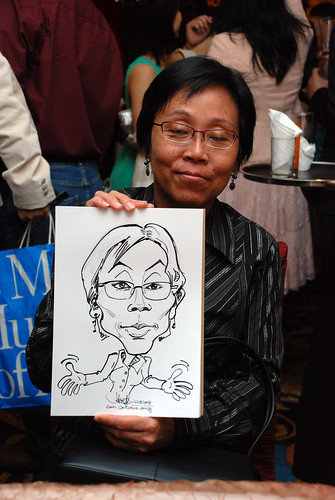 Caricature live sketching for Temasek Holdings D&D 2008 Hero Night 5